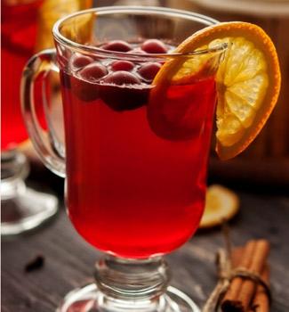 Чай клюква с апельсином